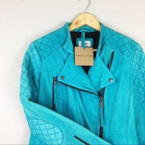 Neiman Marcus | Vintage Style Leather Moto Jacket